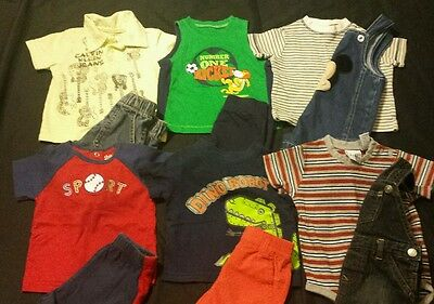 Baby Boy Size 6-9 Months Mixed Summer Clothing Lot