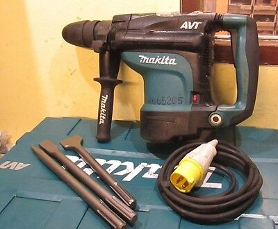 MAKITA HR4511C AVT Hammer Drill Breaker SDS MAX 110v concrete chisels in case