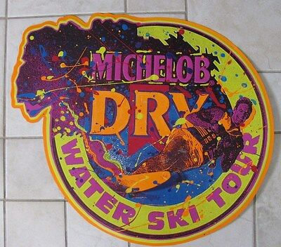 1991 Michelob Water Ski Tour Neon Colored Boat St Louis Mo Beer Pub Bar Sign