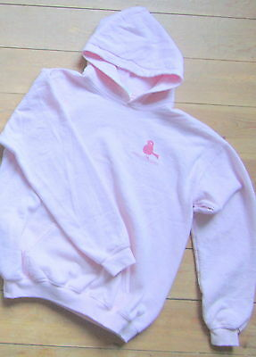 Isles of Scilly Hoodie, Woof 'Scilly Chick', Large Youth, Pale Pink, Hooded Top