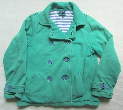 Mini Boden Green Collared Coat, Age 11-12 Years, Thick Jersey Cotton, Buttons