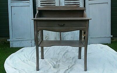 Vintage French Rustic Wash Stand Table