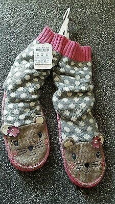 bnwt girls sock/ slippers. size 8.5 to 10