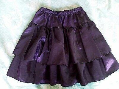 Girls' purple taffeta party skirt Abella age 4 years