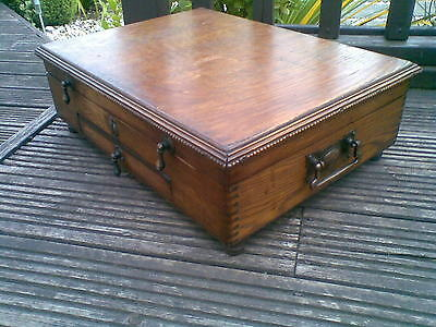 vintage(antique style) storage drawed box, chest inside try
