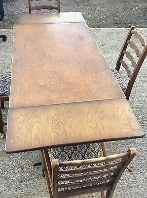 Vintage oak table & 4 chairs