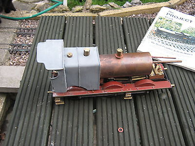 Gauge 1 live steam 0-6-0 LMS chassis and boiler