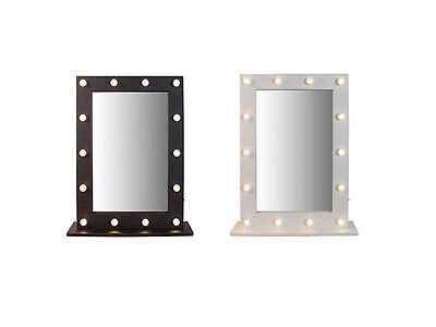 Marque Hollywood Style Make up Light Mirror Black or White 14 Warm White LED