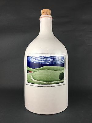 Signed Claude & Slavik Palley France Fraience Terracota Handpainted Bottle RARE