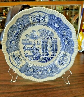 "Spode Blue Room Collection ""pagoda"" Regency Series Plate - Stunning"