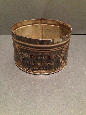 Canadian Oil Company 1 Lb Can Vintage collectible Sterling Axle Grease 1910 Rare