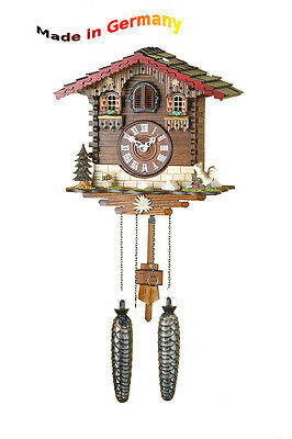 Quartz Cuckoo Clock, Black Forest, Squirrel, Made in Germany, Gift Idea