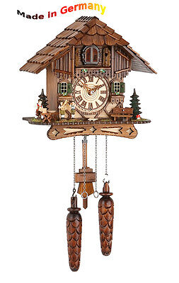 Quartz Cuckoo Clock, Black Forest, Night-Time Shut-Off, Made in Germany, Gift
