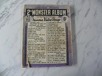 Sheet Music. Lawrence Wright's 2nd Monster Album. Vintage.