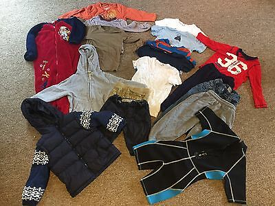 Bundle of Boys Clothes 4-5 years - 17 items & wet suit