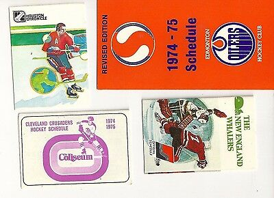 WHA Hockey 1974/75 Schedules Lot of 12 ALL EXCELLENT + CONDITION FREE SHIPPING