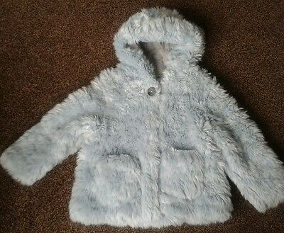 Girls Next faux fur coat age 3 - 4