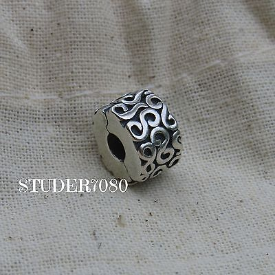 Authentic PANDORA STERLING SILVER SWIRL SPACER. BEAUTIFUL!! WOW!! EXCELLENT!!