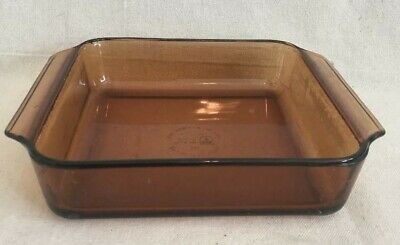 "1.5 Quart Anchor Hocking Amber 8"" Casserole Dish"