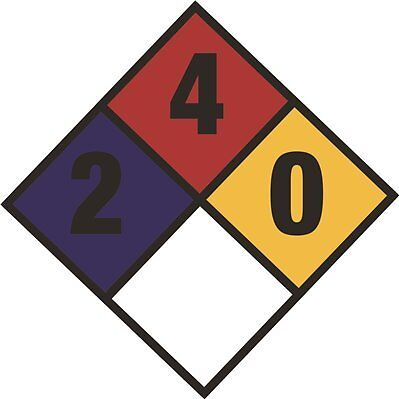 "2-4-0"" DIAMOND WARNING DECAL, 10-3/4 IN. X 10-3/4 IN., 25 PER PAC per Pack"