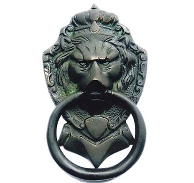 BRASS Majestic Lion Ethnic Victorian Style lion Mouth door knocker