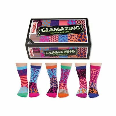 Odd Socks Glamazing Ladies Gift Box Size 4-8 - Gifts For Her Stocking Filler