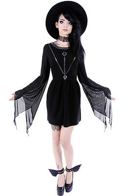 Restyle Tunika Kleid Gothic Witchy Dress Nugoth Coven Tunic Harness Nugoth WGT