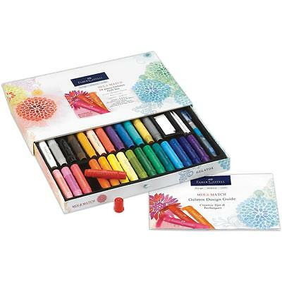 FABER-CASTELL Gelatos Mix & Match 34pc. Gift Set - 28 colors + brushes + tools