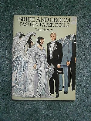 New Uncut Bride & Groom Paper Dolls by Dover Publications 1990