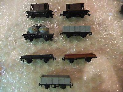Jouef Playcraft Job lot of wagons 7 in total vintage 1960's