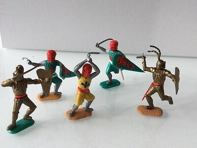 Timpo Medieval Knights X 5 - Collectible Items. From The 60's. Rare.