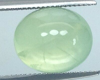 10.90Cts Fabulous!!!    Natural  Prehnite Gems Oval (3961)
