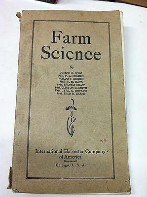 Antique 1906 Farm Science Book By International Harvester Co