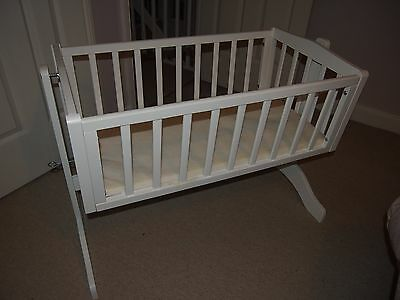 Saplings Bethany Crib with Mattress in White
