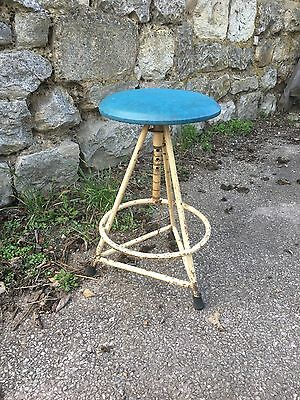 Vintage Retro Industrial Tripod Stool Factory Artist Machinist