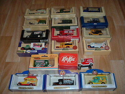 Job Lot Of 17 Die Cast Commercial Vehicles Lledo Etc Well Known Brand Names