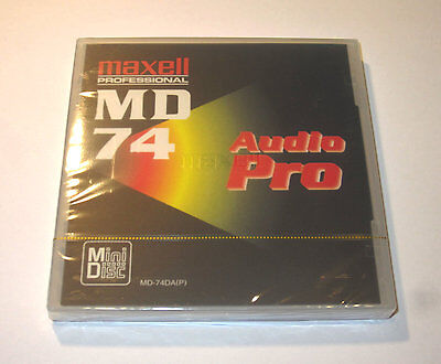 One (1) Minidisc MAXELL Audio PRO MD74 '1999 RARE (new and sealed)
