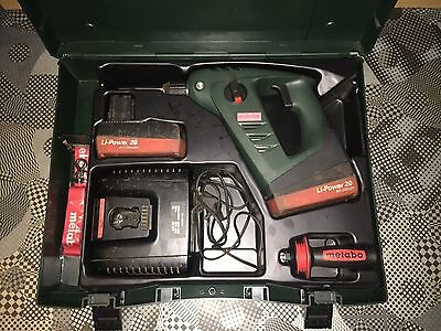 Metabo BHA 18 SDS Drill with 2 x 2.2ah Li-on batteries and charger