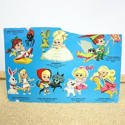 Kiddle Advertising Card Back Vintage Mattel Toy Doll Accessory