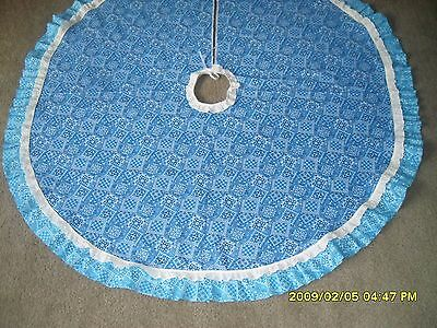 Pretty In Blue Christmas tree skirt. 48 in