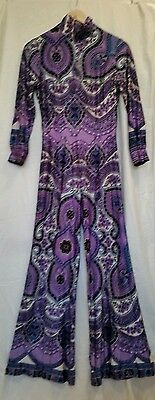 Amazing original Paula Lee 1970s psychodelic ladies playsuit jumpsuit