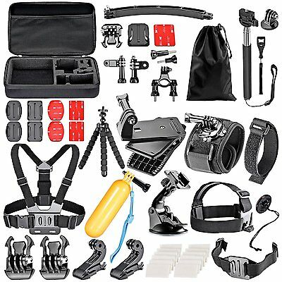 Neewer 50 in 1 Action Camera Accessory Kit for GoPro Hero 4/5 Session NEW