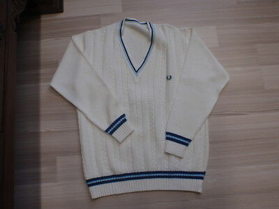 Fred Perry Herren Tennis-Pullover Gr 50