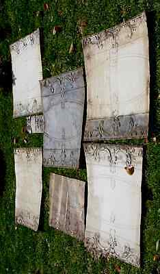 5 Large Vtg Antique Architectural Salvage Embossed Tin Ceiling Wall Panels