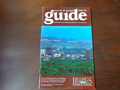1990-91 Travel & Guest Guide Billings Montana Chamber of Commerce 64 pages