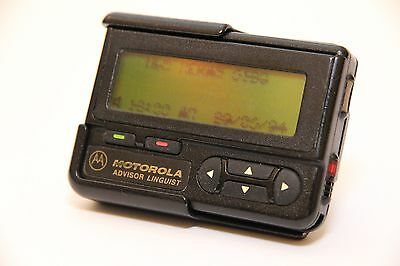 Vintage MOTOROLA Pager Advisor Linguist Collectible Beeper Rare