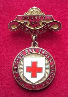 British Red Cross County Badge County of Worcester to P H Jones