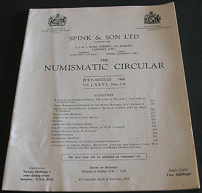The Numismatic Circular 1968 Emergency 1 Shilling Notes Cyprus 1919 + more