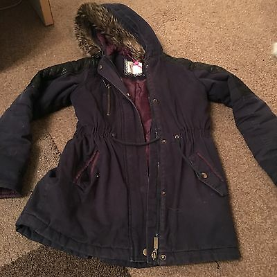 Navy Kylie Girls Coat Age 10