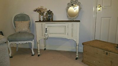 Antique pine washstand  side/hall/dressing  table lovely shabby chic